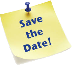 Save the date post-it note